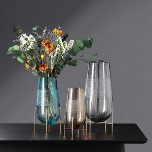 creative hydroponic glass vase