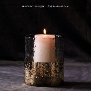 Glass candle holder hotel dining living room countertop light luxury home soft decoration