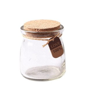 pudding jar with cork
