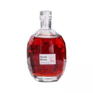 Diamond liquor glass bottle