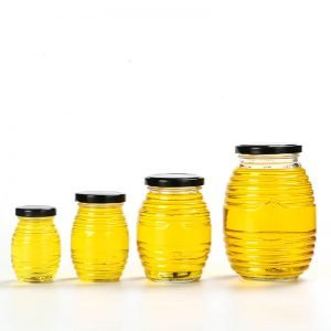 Thread Glass Honey Jar
