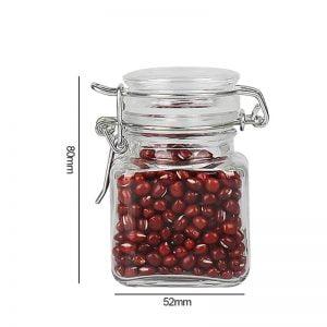 4oz Glass Spice Jar With Airtight Lid