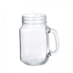 Clear Mason Jar With Handle