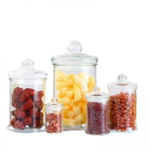 Containers For Candy With Glass Lid