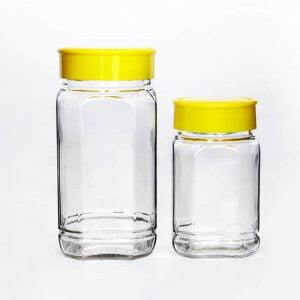 Custom Square Glass Coffee Jar