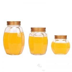 Pot Belly Hexagonal Honey Jar