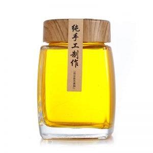Premium Square Glass Honey Jar