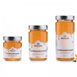 Tall Glass Honey Jar